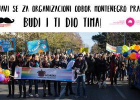 Prijavi se za članstvo u Organizacionom odboru petog Montenegro Prajda